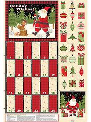 "Santa & Friends Advent Calendar Panel - 30"" x 43"""