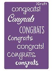 Deco Foil Congrats Stencil