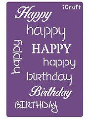 Deco Foil Happy Birthday Stencil