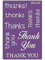Deco Foil Thank You Stencil
