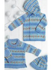 4309: Knit Baby Set