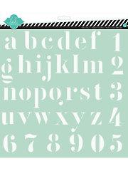 "Heidi Swapp Alphabet Stencil 12"" x 12"""