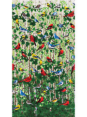"Birds In The Forest Repeat Panel- 24"" x 42"""