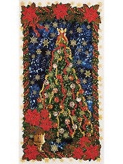 "Glamourous Holiday Tree Panel - 24"" x 42"""