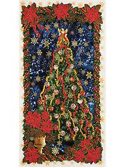 """Glamorous Holiday Tree Panel - 24"""" x 42"""""""