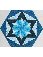 Log Cabin Star Table Topper Pattern