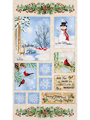 "Winter Memories Flannel Panel - 24"" x 42"""