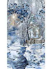 "Scenic Snowfall Panel - 24"" x 42"""