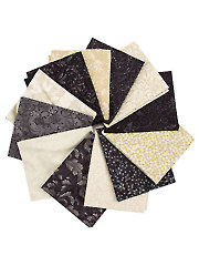 Blacks & Beiges Fat Quarters - 12/pkg.