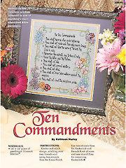Ten Commandments Cross Stitch Pattern