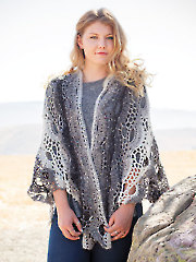 ANNIE'S SIGNATURE DESIGNS: Shell Beach Stole and Shawl Crochet Pattern