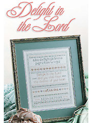 Delight in the Lord Cross Stitch Pattern