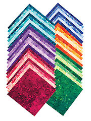 Stonehenge Gradations Brights Flannel  Layer Cake - 42/pkg