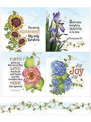 "Floral Squares Panel - 10"" x 12"""