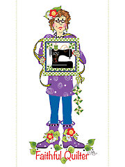 """Faithful Quilter Panel - 6"""" x 12"""""""