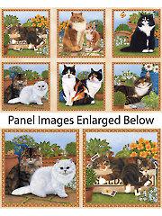 "Feline Fine Panel - 24"" x 44"""