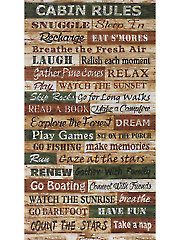 "Cabin Rules Panel - 24"" x 42"""