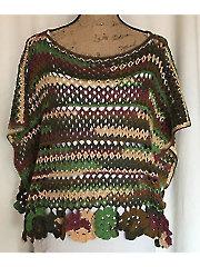 Flowering Poncho Crochet Pattern