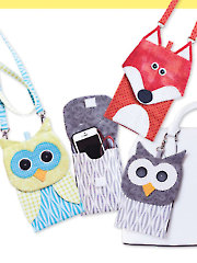 Fox & Owl Cell Phone & Eyeglass Holders Sewing Pattern