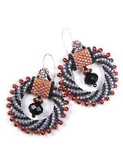 Swirl Bead Crochet Earrings Kit