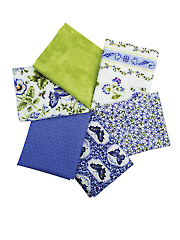 Botanical Blues Mystery Fat Quarters - 6/pkg.