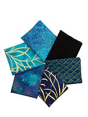 Peacock Mystery Fat Quarters - 6/pkg.