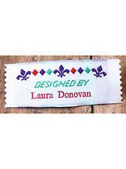 Fleur de Lis Precut Personalized Woven Label - 20/pkg