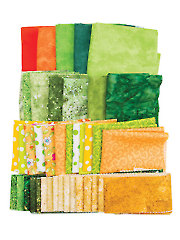 Mystery Fabric Pack Green/Yellow - 2 lbs.