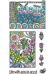Color Me Life Clear Stamp Set