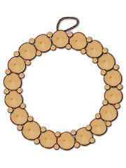 "10"" Round Natural Birch Wreath"