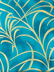 Tossed Feather Turquoise 2-Yard Cut