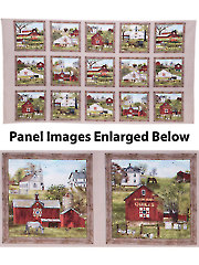 "Headin' Home Amish Barns Panel - 43"" x 24"""