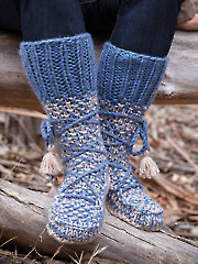 ANNIE'S SIGNATURE DESIGNS: Mukluk Knit Booties Knit Pattern