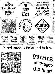 "Fantastic Felines Panel - 18"" x 22"""