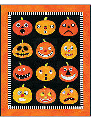 Pumpkins Quilt, Table Topper and Pillow Pattern Set