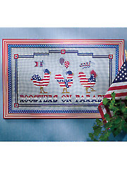 Roosters on Parade Cross Stitch Pattern