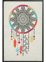 Blackwork Dreamcatcher Cross Stitch Pattern