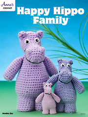 Happy Hippo Family Crochet Pattern