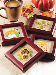 Bountiful Harvest Coasters Cross Stitch Pattern