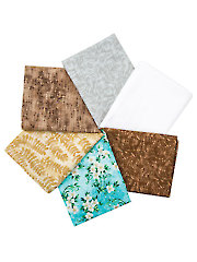 White Blossoms Fat Quarters - 6/pkg.