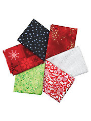 Christmas Assorted Fat Quarters - 6/pkg.