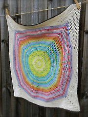 Color Wheel Blanket Crochet Pattern