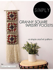 Simply Granny Square Tapestry Pockets Crochet Pattern