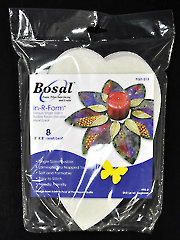 """In-R-Form Single Sided Fusible Stabilizer 5"""" x 8"""" Heart/Leaf - 8/pkg."""