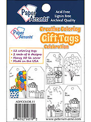 Creative Coloring Celebration Gift Tags