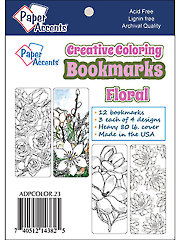 Creative Coloring Floral Bookmarks