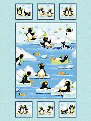 "Gwyn the Penguin Panel - 36"" x 44"""