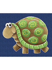 "Sheldon the Turtle Playmat Panel - 44"" x 36"""
