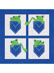 Pockets Full of Frogs Quilt Pattern