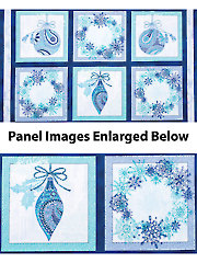 "Winter Frost Blue Panel - 42"" x 24"""